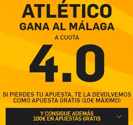 Supercuota betfair Atlético de Madrid