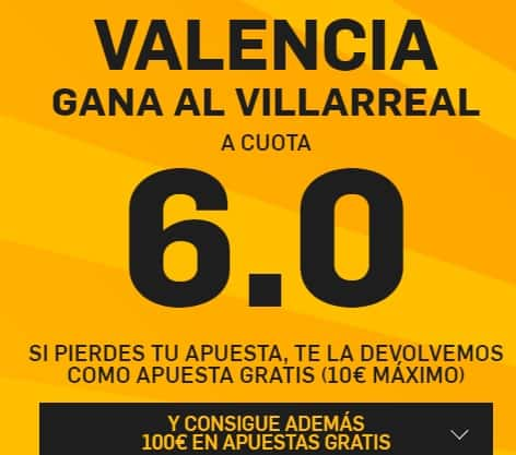 Supercuota betfair Valencia