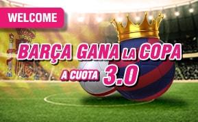 Supercuota Wanabet Barcelona gana Copa