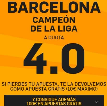 supercuota barcelona campeon betfair