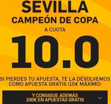 supercuota betfair copa del rey Sevilla