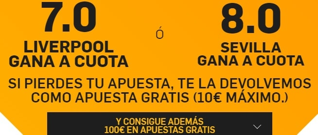 supercuota betfair liverpool sevilla