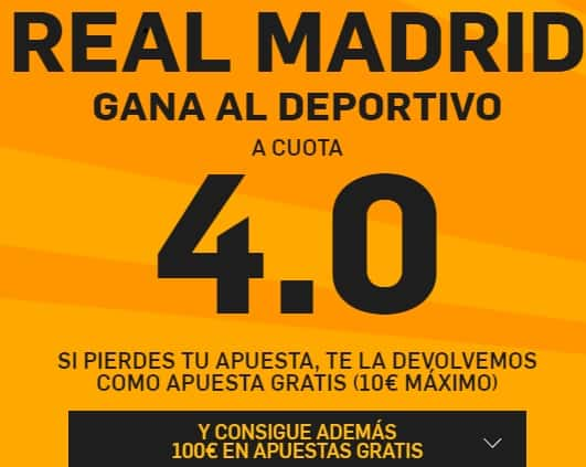 supercuota betfair real madrid