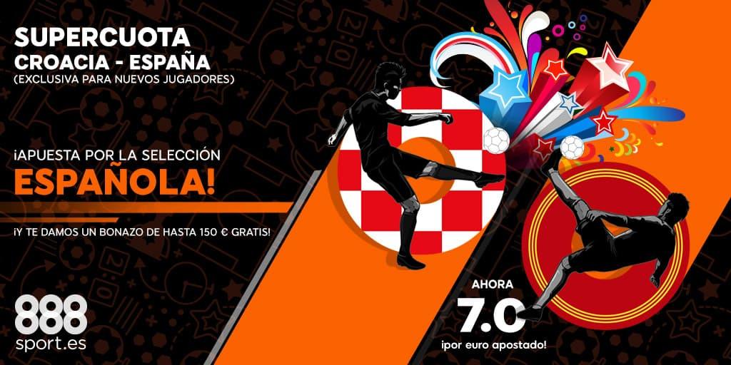 Supercuota 888sport España - Croacia