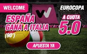 bonos de apuestas wanabet eurocopa España - Italia