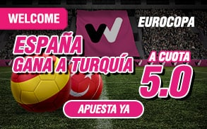 Bonos de apuestas Supercuota wanabet eurocopa España gana a Turquía cuota 5