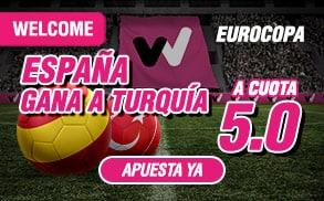 Supercuota wanabet eurocopa España gana a Turquía cuota 5