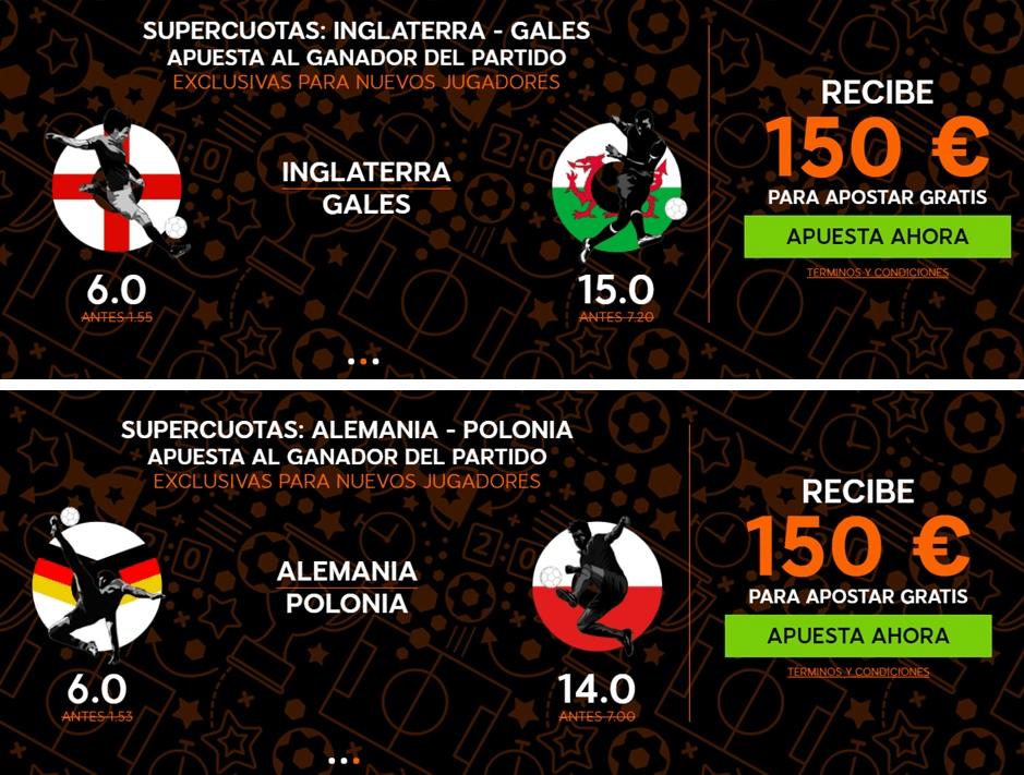 supercuotas 888sport Inglaterra - Gales Alemania - Polonia