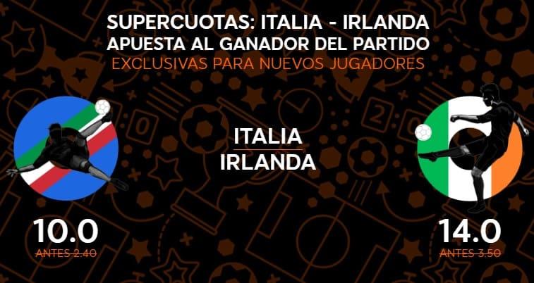 supercuota 888sport Italia-Irlanda
