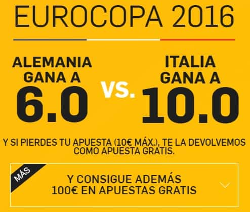 supercuota betfair Alemania-Italia