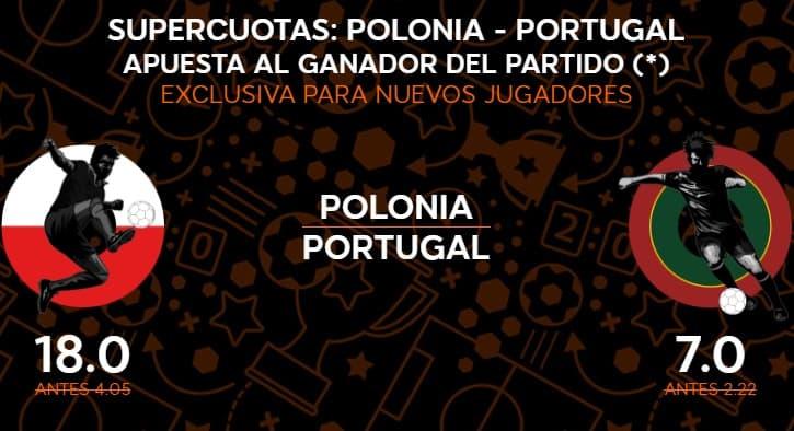 supercuotas 888sport polonia-portugal