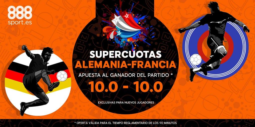 Supercuota 888sport Alemania - Francia