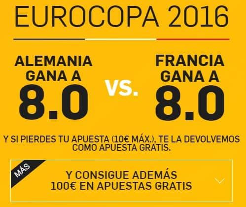 supercuota betfair Alemania-Francia