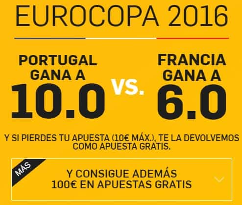 supercuota betfair portugal-francia