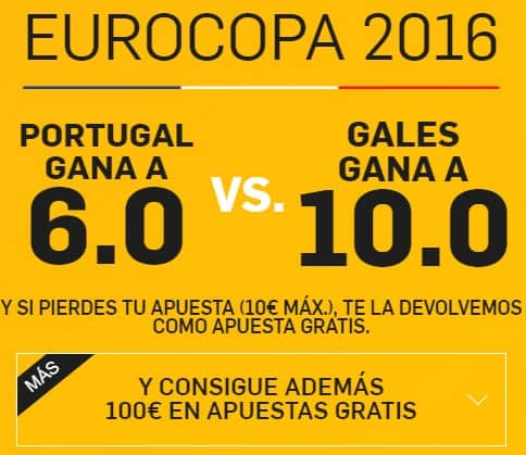 supercuota betfair portugal-gales