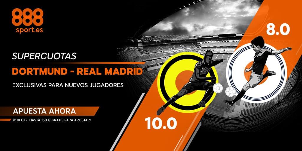 supercuota champions 888sport Borussia - Real Madrid