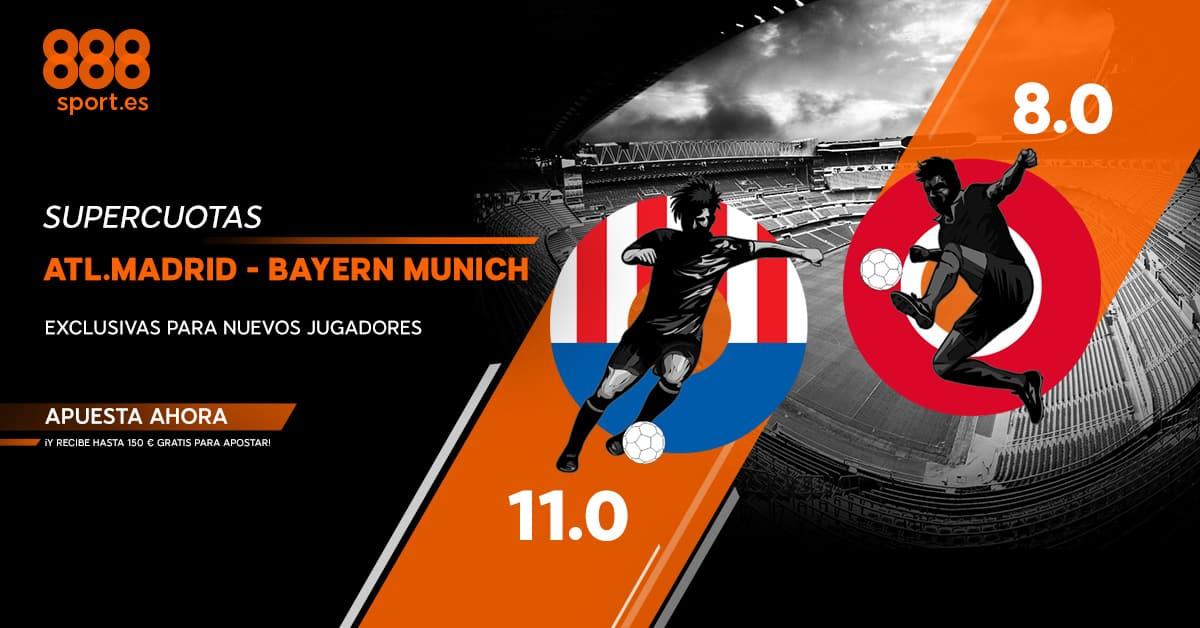 supercuota champions 888sport Atletico - Bayern