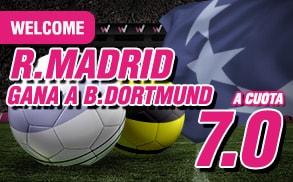 supercuota wanabet Champions League Real Madrid cuota 7