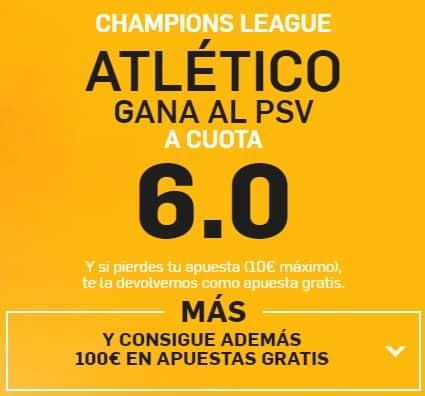 supercuota betfair Champions Atlético