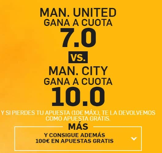 supercuota betfair manchester city - manchester united