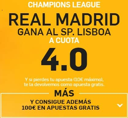 Supercuota betfair Champions Real Madrid