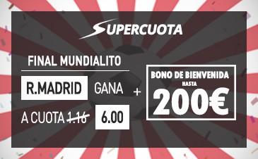 supercuota sportium Real Madrid Mundial