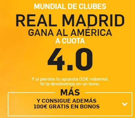 supercuota betfair Real Madrid Muncial