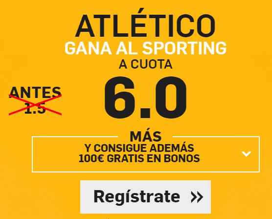 Betfair Atletico sporting cuota 6