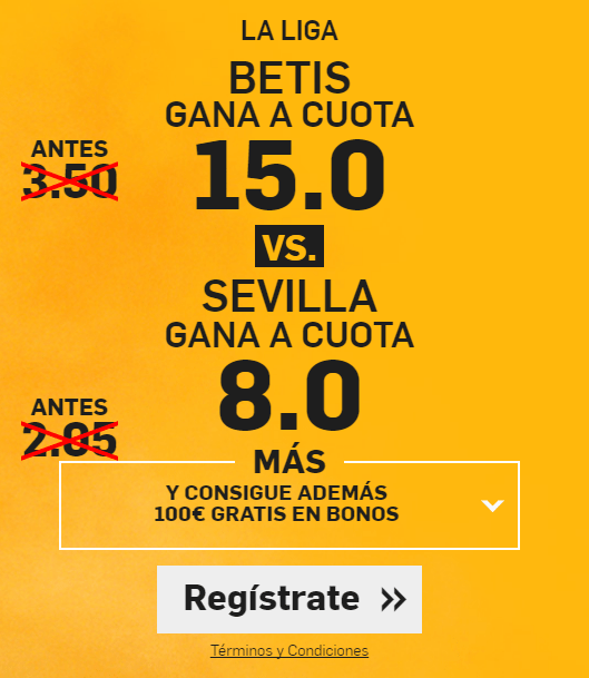Supercuota Betfair Betis vs Sevilla