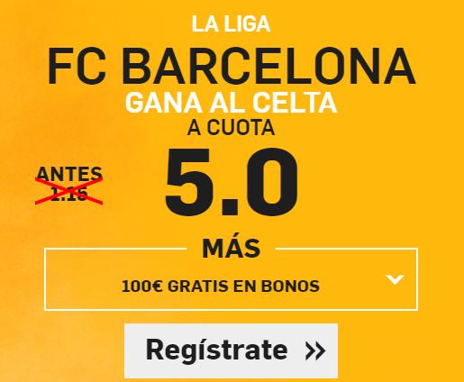 Supercuota Betfair Barcelona Celta