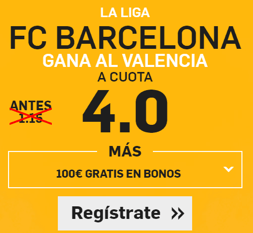 Supercuota Betfair Barcelona Valencia