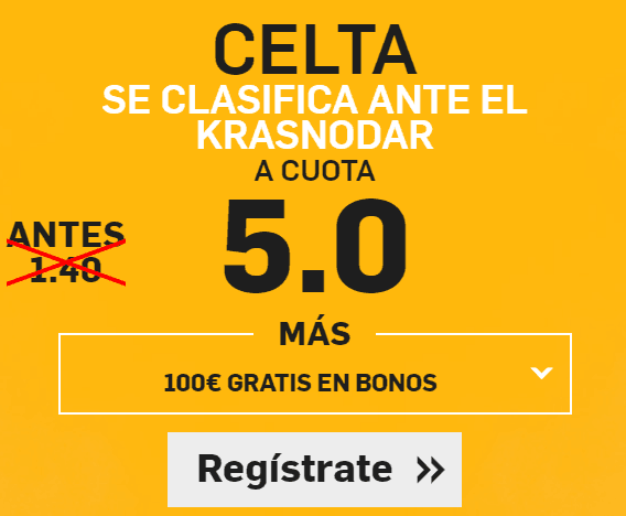 Supercuota Betfair Celta Krasnodar