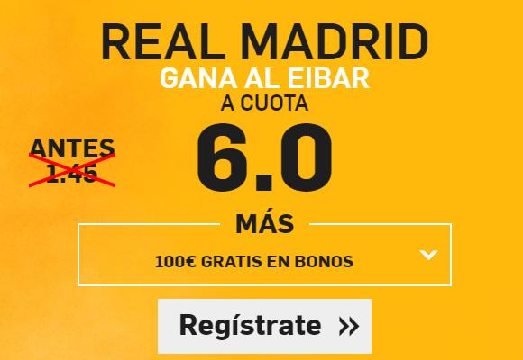 Supercuota Betfair Real Madrid Eibar