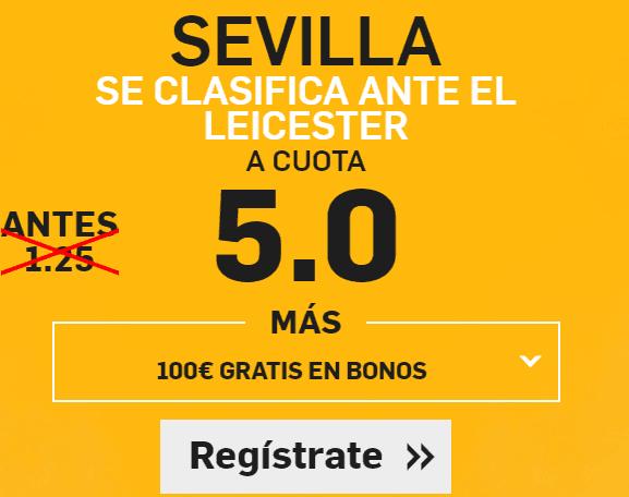 Supercuota Betfair Sevilla Champions