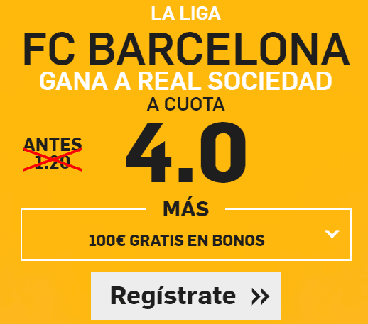 Supercuota Betfair Barcelona Real Sociedad
