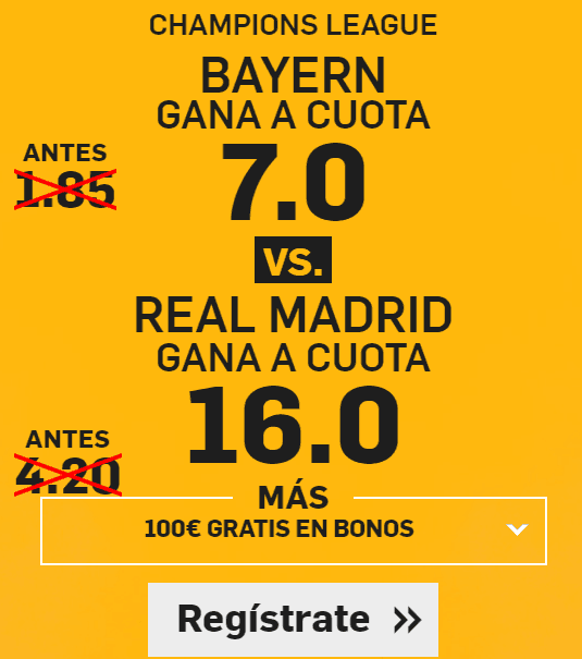Supercuota Betfair Champions League Bayern