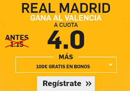 Supercuota Betfair La Liga Real Madrid Valencia