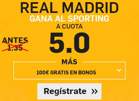 Supercuota Betfair Real Madrid Sporting