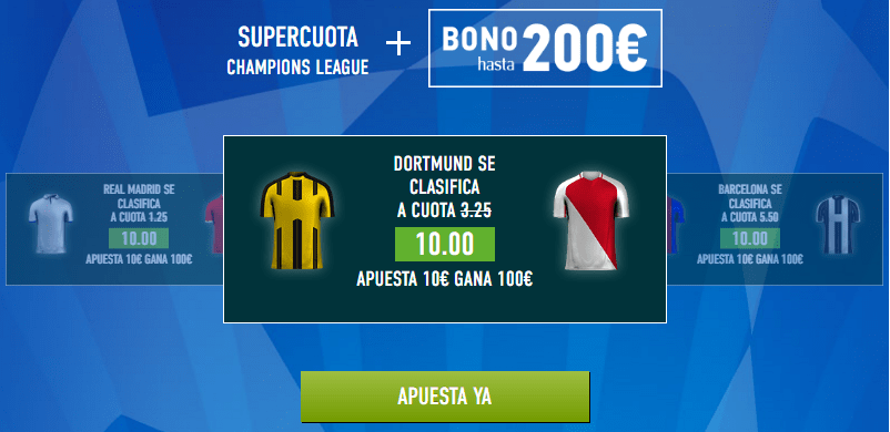 Supercuota Sportium Champions Dortmund