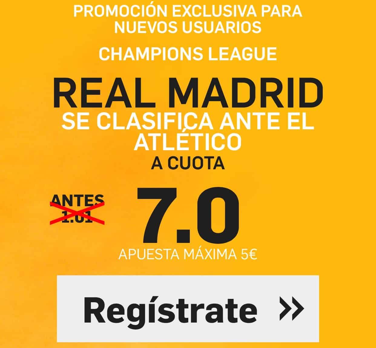 Supercuota Betfair Champions Real Madrid