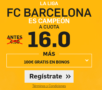 Supercuota Betfair Barcelona Campeon