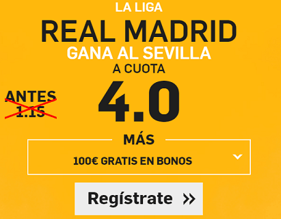 Supercuota Betfair La Liga Real Madrid Sevilla