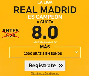 Supercuota Betfair Real Madrid Campeon
