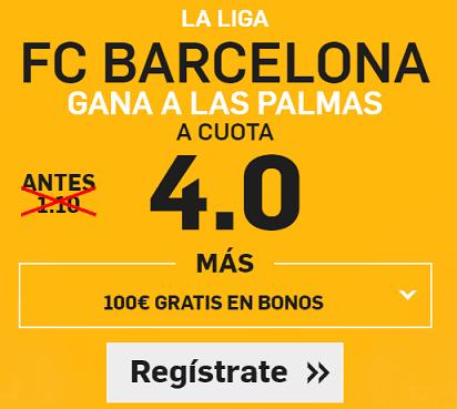 Supercuota Betfair la liga Barcelona Las palmas