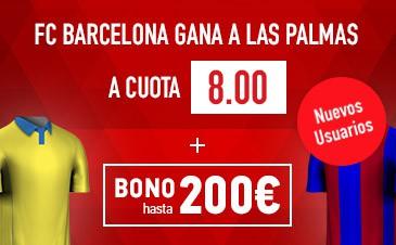Supercuota Sportium La Liga Barcelona las Palmas
