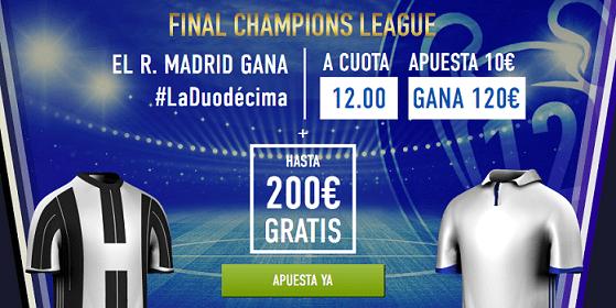Supercuota Sportium Real Madrid gana Champions League a cuota 12.00