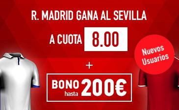 Supercuota Sportium la Liga Real Madrid Sevilla