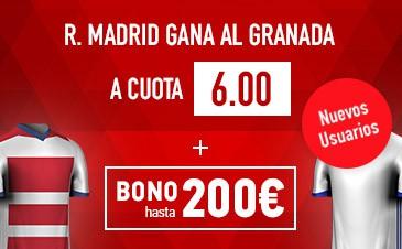 Supercuota Sportium la Liga Real Madrid gana Granada