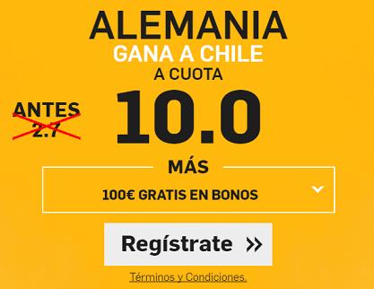 Supercuota Betfair Alemania gana a Chile