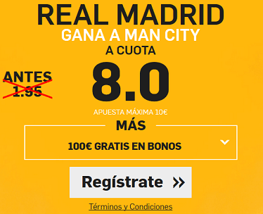 Supercuota Betfair Real Madrid - Man City